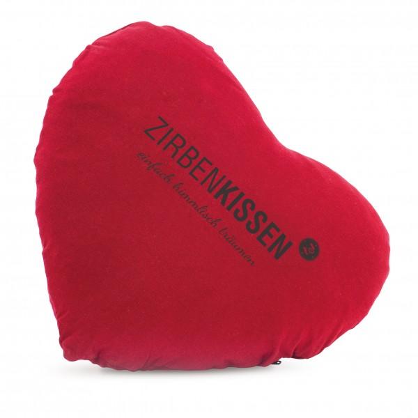 """Original ZirbenKissen """"Herz"""" Rot 40 x 40cm"""