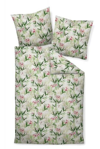 Mako-Soft-Seersucker Bettwäsche TANGO 20073 01 rosa grün