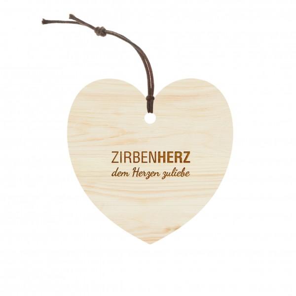Original ZirbenHerz-Anhänger 75 x 75mm