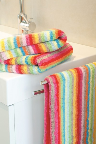 Cawö Streifen Duschtuch 7008 multicolor hell