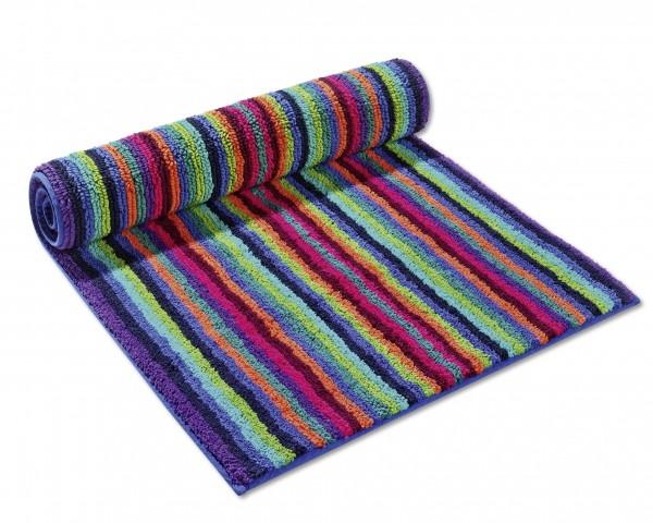 Cawö Streifen Waschhandschuh 7048 multicolor dunkel